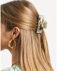 ASOS Rectangle Hair Claw - Green