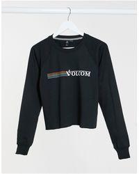 Volcom Truly Stoked Crew Logo Sweater - Black