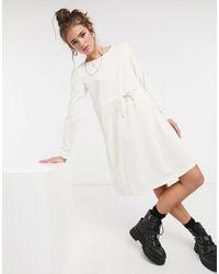 Vila Jersey Tie Waist Dress - White