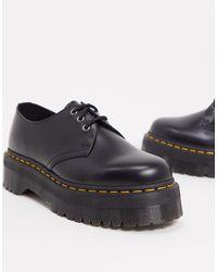 Dr. Martens Zapatos con 3 ojales en negro 1461 Quad