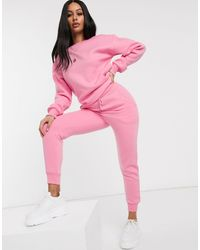 Public Desire Relaxed Cuffed joggers Co-ord - Pink