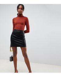 New Look Pu Mini Skirt In Black