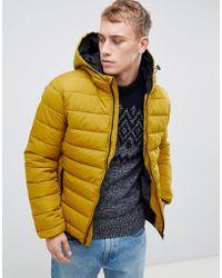 New Look - Puffer Jacket In Mustard - Lyst