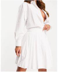 NA-KD Pleated Tennis Mini Skirt - White