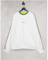 adidas Originals Rib Detail Crew Neck - White