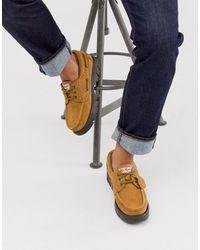 Kickers Lennon Boat Shoes - Natural
