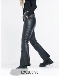 Reclaimed (vintage) Pantalones capri negros