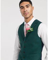 ASOS Wedding Slim Suit Waistcoat - Green