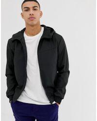 Jack & Jones Core Lightweight Water Repellent Jacket In Black