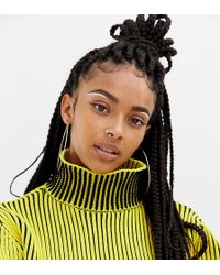 Collusion Ribbed Sweater With High Neck - Yellow