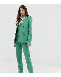 ASOS Asos Design Tall - Slim-fit Pantalon - Groen