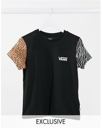 Vans Wyld Multi Animal Print T-shirt - Black