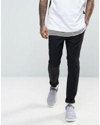 9c4cd7e7eaa ASOS Tall Halloween Skinny Pants With Pumpkin Print in Black for Men ...