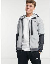 Nike Tech Fleece Full-zip Colourblock Hoodie - Grey