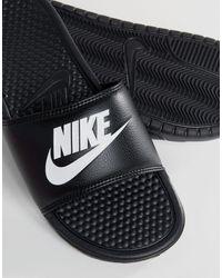 Nike Sandalias negras Benassi JDI - Negro