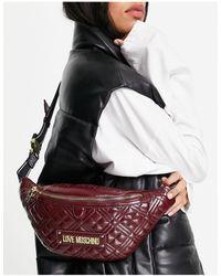 Love Moschino Doorgestikt Heuptasje Met Logo - Rood
