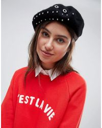 French Connection - Metal Hardware Beret Hat - Lyst
