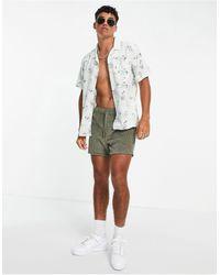 Levi's - Серая Рубашка С Короткими Рукавами, Отложным Воротником И Камуфляжным Принтом В Кубинском Стиле -серый - Lyst
