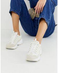 Skechers D'lite - Sneakers Met Dikke Zool - Wit