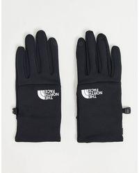 The North Face Черные Перчатки С Белым Логотипом Etip-черный Цвет