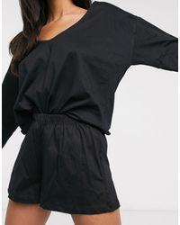 ASOS Mix & Match Jersey Pyjama Short - Black