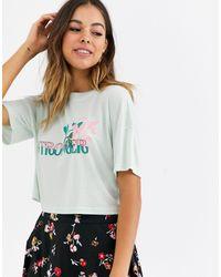 Glamorous - Oversize-футболка Stronger-зеленый - Lyst