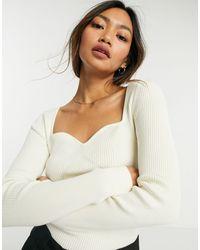 & Other Stories Top corset en tricot écologique - Blanc