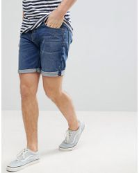 ASOS - Denim Shorts In Slim Dark Wash - Lyst