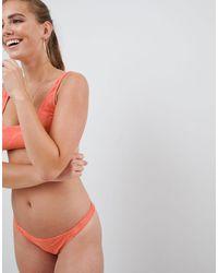 ASOS Mix And Match Crochet Brazillian Bikini Bottom - Orange