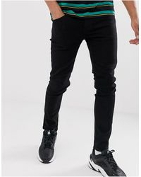 Only & Sons – Enge Jeans - Schwarz
