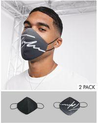 TOPMAN 2 Pack Signature Face Coverings - Black