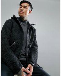 e7c93d32c Vindur Knitted Wool Blend Hooded Jacket In Black