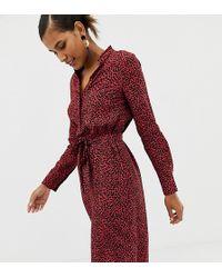 Oasis Robe chemise lien la taille avec imprim animal - Rouge