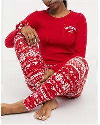Hollister Flannel Sleep Set - Red