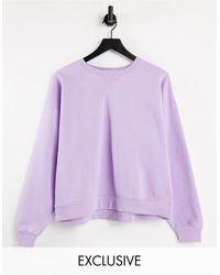 Stradivarius Crew Neck Sweatshirt - Purple