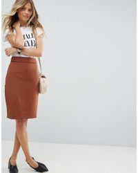 ASOS - Tailored Pencil Skirt With Tab Detail - Lyst