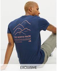 The North Face Синяя Футболка Peaks Эксклюзивно Для Asos-синий