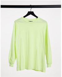 ASOS Oversized Long Sleeve T-shirt With Cuff Detail - Green