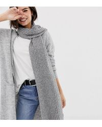 Oasis Knitted Scarf In Grey