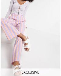 Collusion Wide Leg Pink Stripe Pant