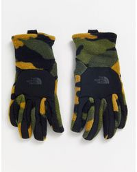 The North Face Denali Etip - Gants - Camouflage kaki - Vert