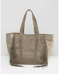 Urban Originals - Fringed Shopper Bag - Lyst