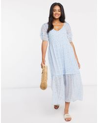 Stradivarius Midi Dress - Blue