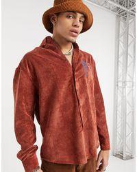 ASOS Camisa extragrande - Rojo