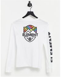 Element Beamin Long Sleeve T-shirt - White