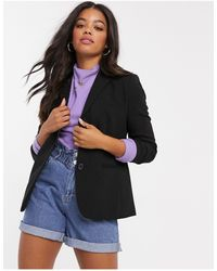 French Connection Whisper Ruth Fitted Blazer - Black