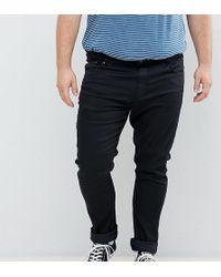 Jacamo Skinny Fit Jeans In Black Wash