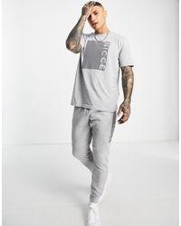 Nicce London Camiseta gris con recuadro estampado Cube
