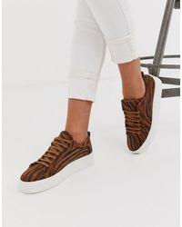 Vero Moda Tiger Print Trainers - Brown