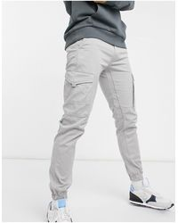 Jack & Jones Intelligence Cargo Trousers - Grey